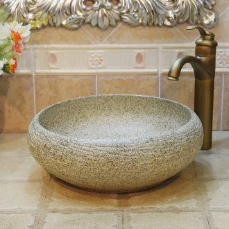 Jingdezhen ceramic lavatory basin stage art basin sink water shallow imitation stone basin bai maji stone
