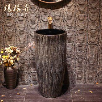 Lavabo ceramic column toilet bowl washing pool balcony sink the lavatory toilet pillar landing