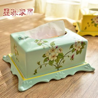 Murphy, American country ceramic tissue box European rural sitting room dining - room bedroom adornment carton furnishing articles