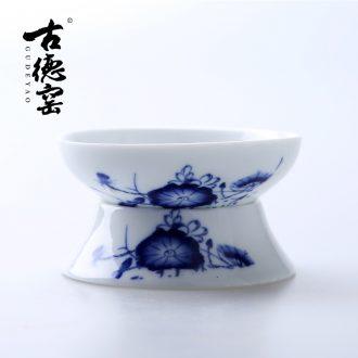 Goodall kiln ceramic kung fu tea tea sets) of blue and white porcelain tea filter in hot tea strainer mesh