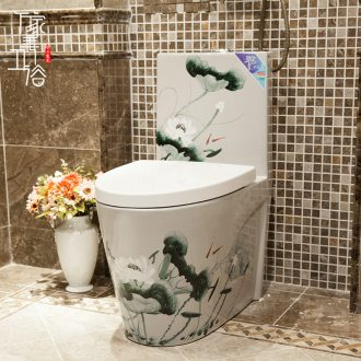 Art ceramic fashion city individuality creative implement implement color toilet deodorization toilet home