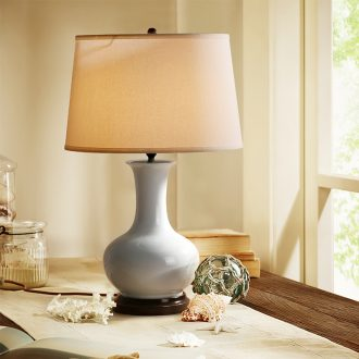 American country ceramic desk lamp copper contracted sitting room bedroom berth lamp wedding study desk lamp of rural lamps and lanterns