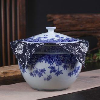 Jingdezhen ceramic tea packaging gift box bulk up tea caddy fixings puer tea pot common seal