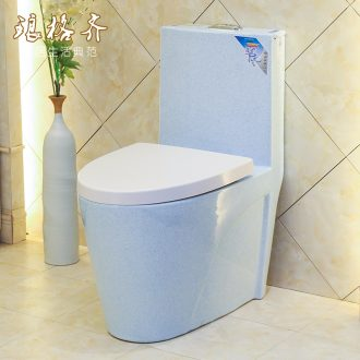 Siphon jet conjoined implement water - saving.mute high - grade toilet sit urinal ceramics gold toilet blue star