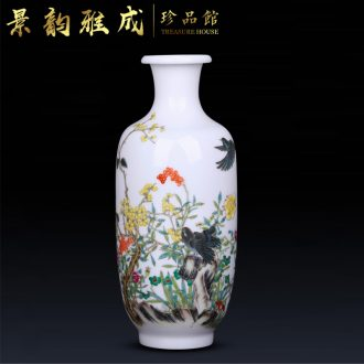 Jingdezhen ceramic hand - made vases, flower arranging decorations furnishing articles of new Chinese style living room porch craft porcelain decoration