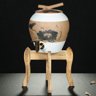 Friend is ceramic water storage tank storage tank kung fu tea accessories with tea, tea drinking water pure bucket five liters
