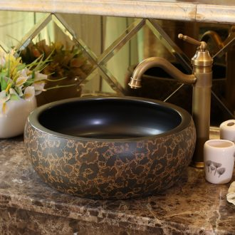 Jingdezhen sanitary ceramics stage basin art circle basin balcony lavatory small family restoring ancient ways is the sink