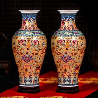 Jingdezhen ceramics of large vases, flower arranging furnishing articles European wine TV ark, sitting room adornment ornament