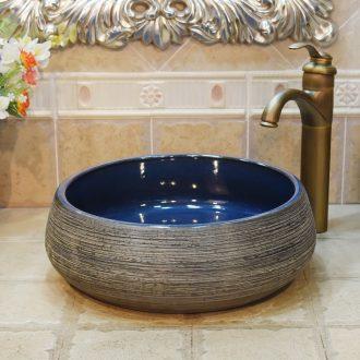 Jingdezhen ceramic lavatory basin stage art basin sink admiralty frosted grey variable blue glaze