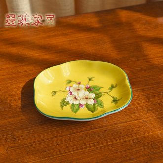Murphy 's new Chinese style classical seeds dried fruit dish ashtray American country ceramic bathroom soap dish soap dish
