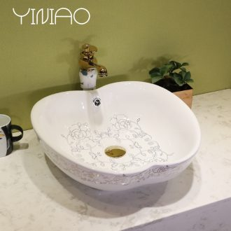 Million birds alien art stage basin ceramic lavatory circular basin basin on the toilet lavabo