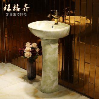 Ceramic vertical column type lavatory balcony column basin floor toilet lavabo basin one column