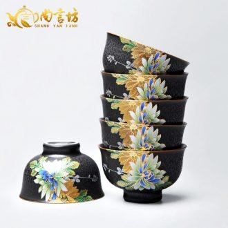 It still fang ceramic sample tea cup big kung fu tea tea cup, individual CPU master single CPU rust glaze small cups