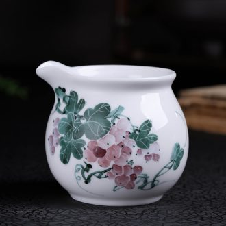 Jingdezhen hand - made under the glaze color ceramic fair keller kung fu tea accessories and cup and a cup of tea is tea sea