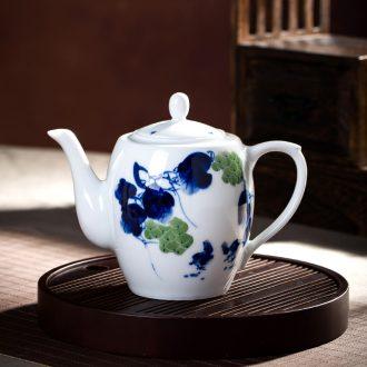 Jingdezhen ceramic high-capacity cool household single pot of hand-painted kung fu tea tea kettle narrow single pot teapot