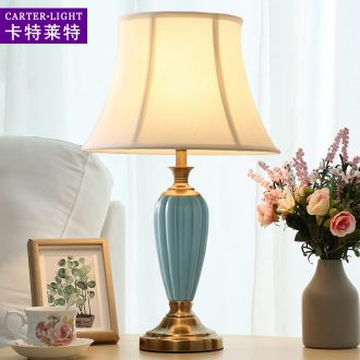 American ceramic desk lamp lamp of bedroom the head of a bed sweet American modern marriage room sitting room study ideas
