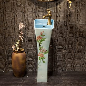 Basin of wash one one small balcony ceramic basin of pillar type lavatory toilet column vertical floor type household