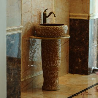Jingdezhen ceramic basin art post balcony toilet bath lavatory washing basin sink its