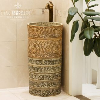 Jingdezhen ceramic art basin of lavatory floor pillar multi - functional bath lavatory toilet lavabo