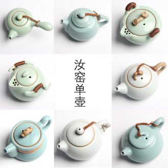 Passes on technique the up with your up the ceramic teapot side kung fu tea set on your porcelain single pot which can raise hand to grasp the teapot