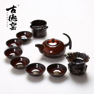 Goodall up up tea set porcelain masterpieces kung fu tea set rabbit house of a complete set of the teapot built one day