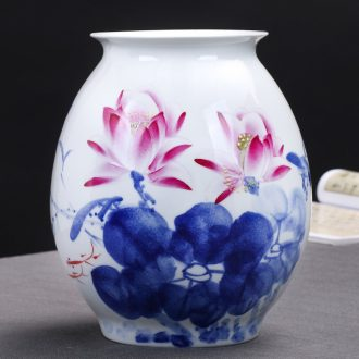 Jingdezhen ceramics hand - made Chinese blue and white porcelain vases, flower arrangement sitting room home wine ark, adornment furnishing articles
