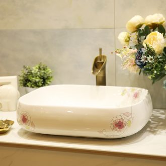 M beauty increase stage basin sink ceramic sanitary ware of the basin that wash a face basin sinks hand painted pink rose