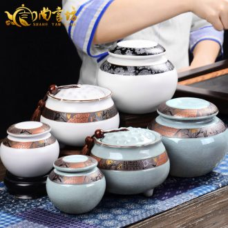 It still fang tea large bucket of pu - erh tea pot seal box elder brother up caddy fixings ceramic household