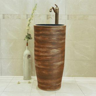 Jingdezhen ceramic basin toilet lavabo column pillar landing artists lavatory of the basin that wash a face