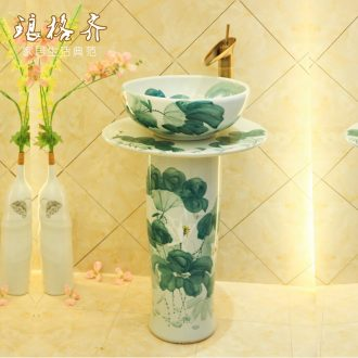 Jingdezhen ceramic contracted household pillar to use the lavatory toilet lavabo, pillar type restoring ancient ways is the white lotus