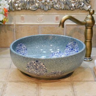 Jingdezhen ceramic new green integrated color wash basin sink basin stage art basin on the basin that wash a face