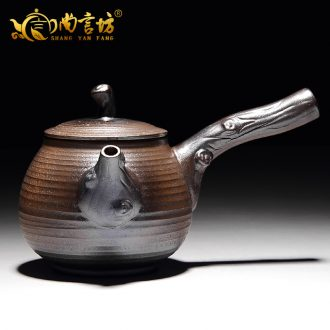 It still fang kung fu tea set little teapot retro firewood ceramic teapot coarse pottery side girder pot pot