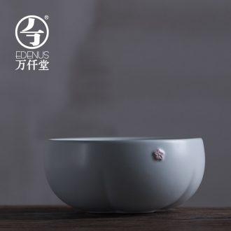 Million kilowatt/hall tea to wash the ceramic kung fu tea set parts tea zero with large bowl washing cup in bud