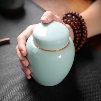 Caddy ceramic seal storage tanks longquan celadon small portable tea caddy household ceramic POTS