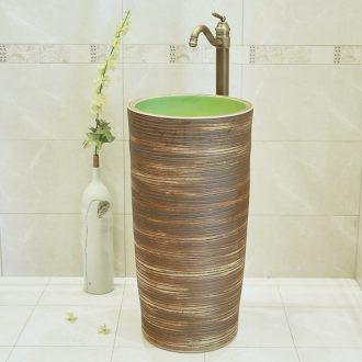 Jingdezhen ceramic basin sink basin bathroom column column ceramic art basin to the pool that wash a face of the basin that wash a face