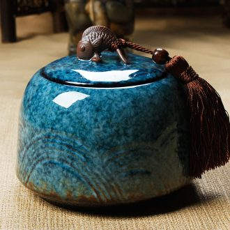 Friends are large ceramic up caddy fixings seal pot tieguanyin big POTS leap three color
