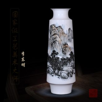 Jingdezhen ceramics dong - Ming li hand - made enamel vase khe sanh newest home decoration handicraft furnishing articles