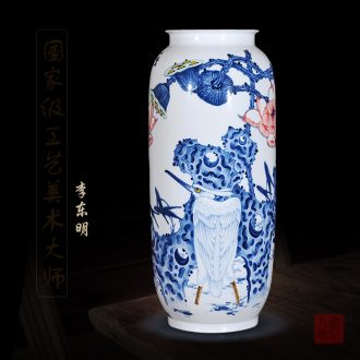 Jingdezhen ceramics dong - Ming li hand - made of blue and white porcelain vases, even all the way home sitting room crafts