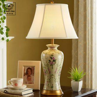 Santa marta tino ice crack european-style lamp wedding ceramic desk lamp of bedroom the head of a bed warm study art lamp