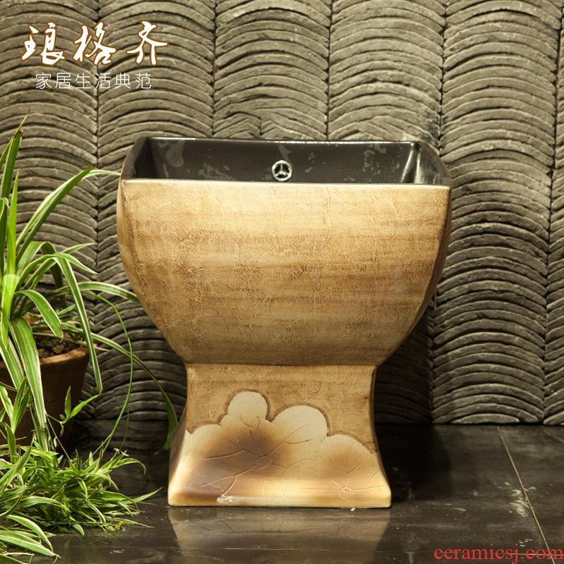Koh larn, qi Chinese jingdezhen ceramic art mop mop pool pool balcony toilet basin courtyard mop pool