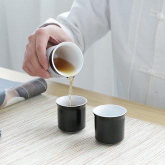 The Home office ceramic pot of two cups of a portable teapot teacup travel kung fu tea set to crack a cup of tea