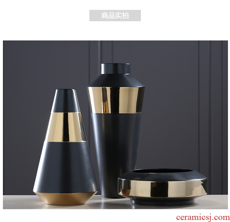 Ceramic vase landing restoring ancient ways continental contracted sitting room porch hotel dry flower arranging flowers large soft adornment furnishing articles - 569004940778