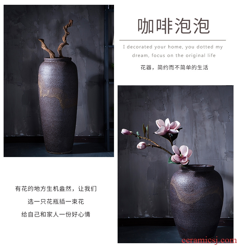 Ceramic crock POTS modern retro jingdezhen Ceramic vase of large indoor and is suing the home decoration furnishing articles - 564302457881