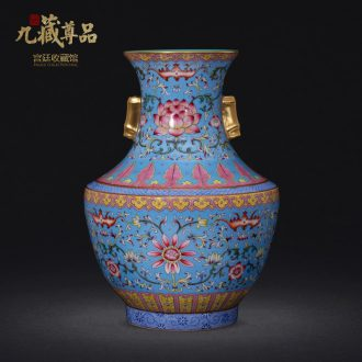 Jingdezhen ceramics powder imitation qing qianlong pastel to tie up branch grain colour ears crafts vase collection