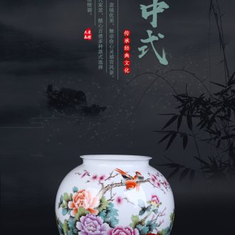 New Chinese style restoring ancient ways of jingdezhen ceramic POTS do old ceramic flower implement sitting room put dried flowers of large coarse pottery vase furnishing articles - 563564655619
