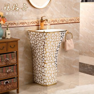 Ceramic basin of pillar type lavatory floor pillar lavabo basin integrated luxury toilet basin of vertical column