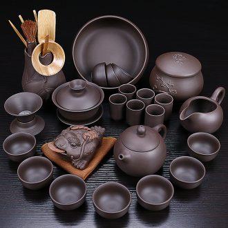 Tao blessing household violet arenaceous kung fu tea sets a complete set of ceramic teapot teacup tea gift set tea service