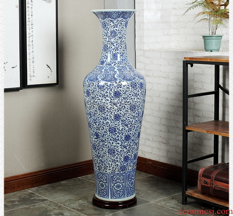 European vase furnishing articles sitting room TV cabinet dry flower arranging flowers large key-2 luxury home decoration - 568888144874 ceramic arts and crafts