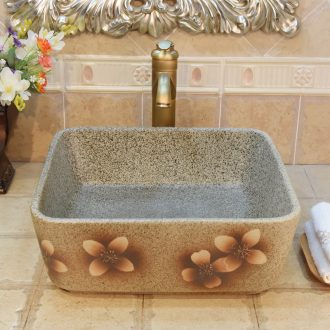 JingYuXuan jingdezhen ceramic lavatory basin sink basin square cherry blossom put art stage basin
