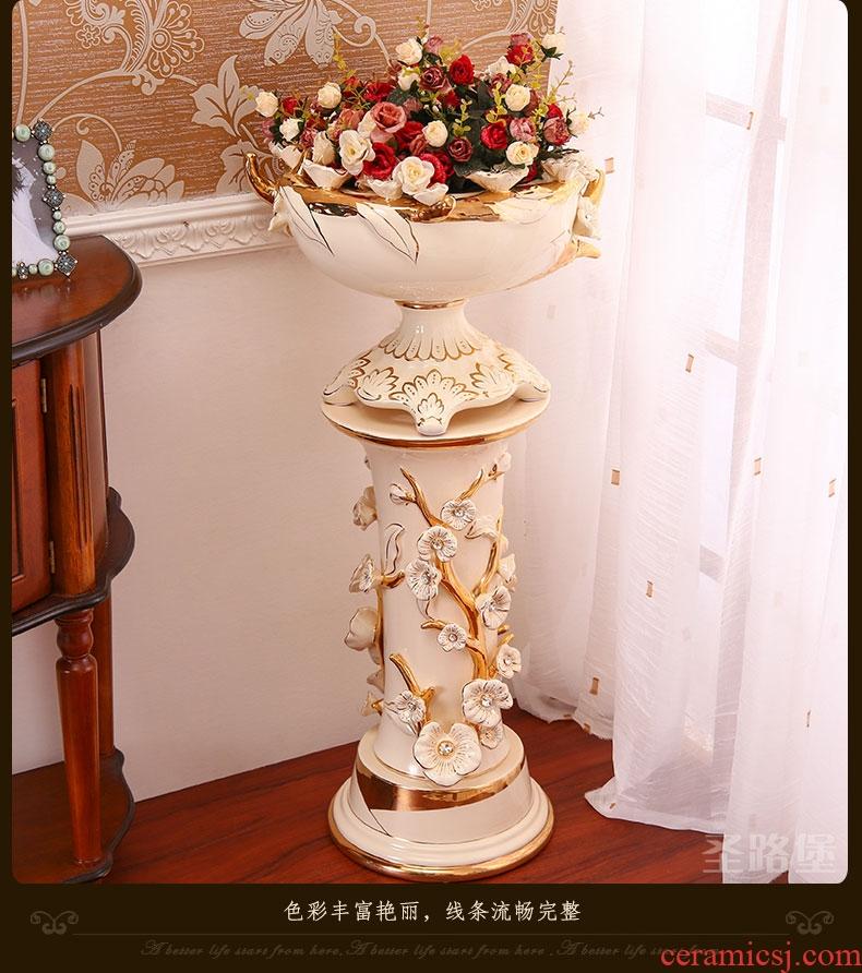 Large key-2 luxury European - style vase furnishing articles sitting room TV ark landed retro - 525889616480 home decoration ceramic arts and crafts